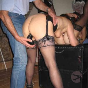 some nude swingers during party
